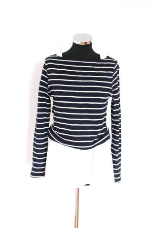 Gestreept shirt wit-donkerblauw