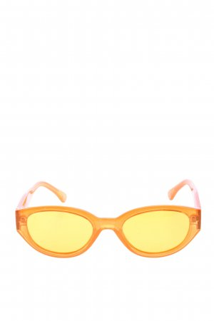 Bretman Rock x Dime ovale Sonnenbrille hellorange Casual-Look