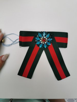 Breuninger Brooch red-cadet blue