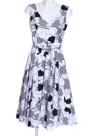 Breuninger Exquisit Cocktail Dress white-black abstract pattern casual look