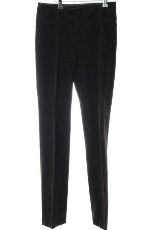 Breuninger Exquisit Pantalon en velours côtelé noir style décontracté