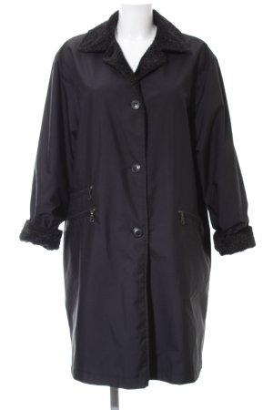 Breuninger Oversized Mantel schwarz klassischer Stil