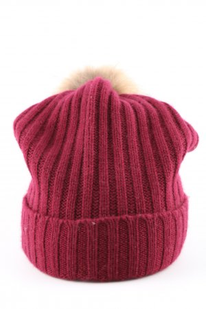 Breuninger Bobble Hat pink cable stitch casual look