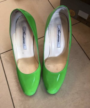 Brian Atwood Talons hauts vert fluo
