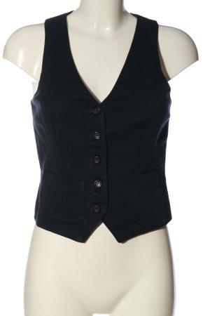 Brian Dales Waistcoat black-blue striped pattern casual look
