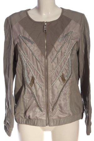 brian Skórzana kurtka brązowy W stylu casual