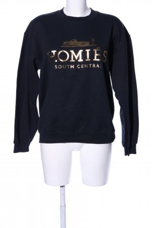 Brian Lichtenberg Sweatshirt zwart gedrukte letters casual uitstraling