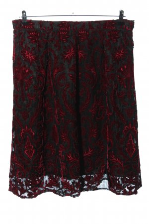 Brian Rennie Midi Skirt red-black allover print casual look