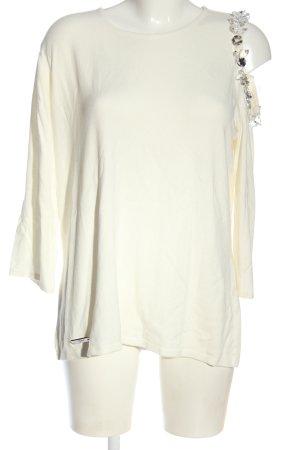 brian Sweter z okrągłym dekoltem w kolorze białej wełny Elegancki