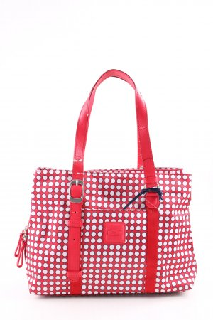 Bric's Carry Bag red-white spot pattern casual look