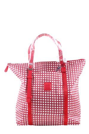 Bric's Henkeltasche rot-weiß Punktemuster Casual-Look