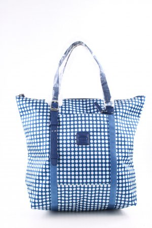 Bric's Carry Bag blue-white spot pattern casual look