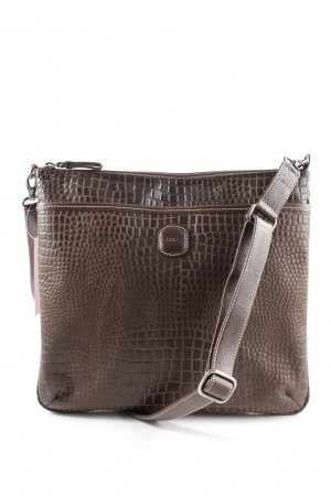 Bric's Shoulder Bag bronze-colored animal pattern business style