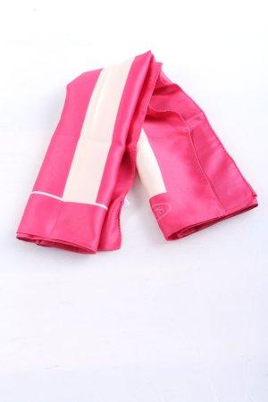 Brics Fazzoletto da collo rosa-bianco motivo a righe stile casual
