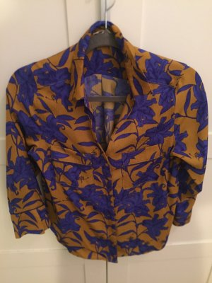 H&M Hawaiian Shirt dark blue-dark orange