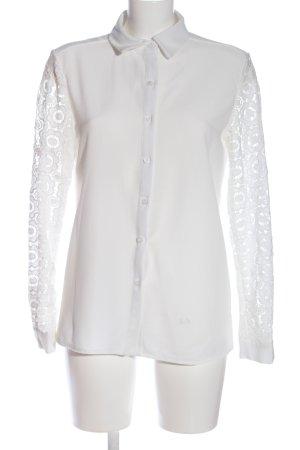 Brigitte Bardot Shirt met lange mouwen wit zakelijke stijl
