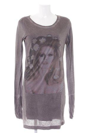 Brigitte Bardot Longsleeve Dress pink-grey brown placed print casual look