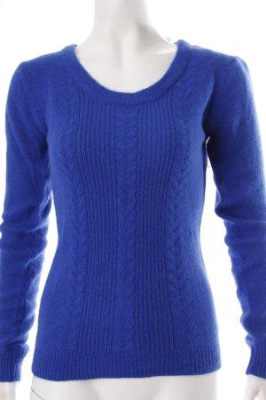 Brigitte Bardot Kraagloze sweater blauw-neon blauw Angorawol