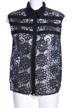 Brigitte Bardot Transparante blouse zwart volledige print elegant
