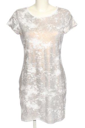 Brigitte Büge Jerseykleid hellgrau-weiß Casual-Look