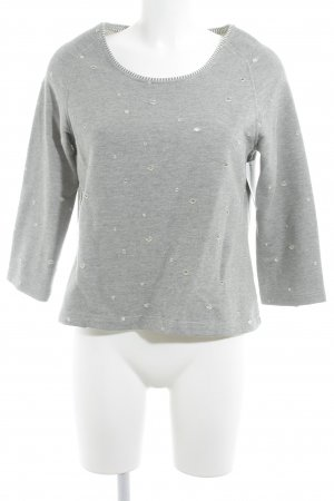 Brigitte Büge Crewneck Sweater grey-white spot pattern casual look