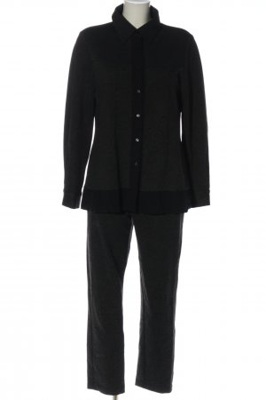 Brigitte Büge Twin set in maglia nero-grigio chiaro puntinato stile casual