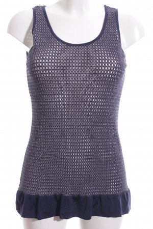 Brigitte Büge Tank Top blue cable stitch casual look
