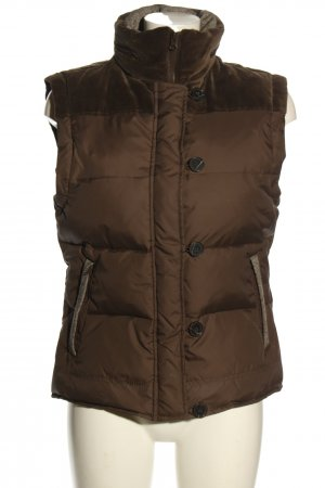 Brigitte von Boch Down Vest brown quilting pattern casual look