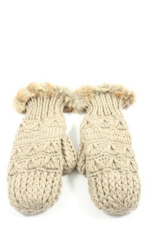Brigitte von Boch Fingerless Gloves natural white casual look