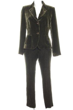 Brigitte von Boch Tailleur-pantalon vert foncé style extravagant