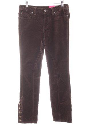 Brigitte von Boch Lage taille broek zwart bruin casual uitstraling