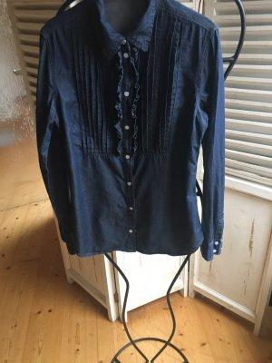 Brigitte von Boch Jeans blouse donkerblauw