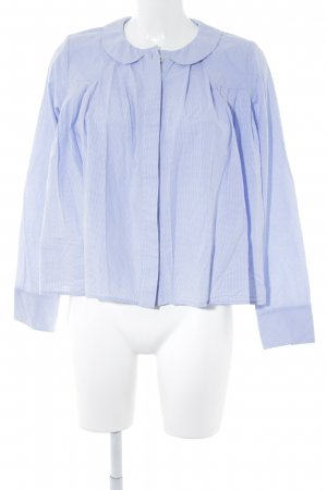 Brigitte von Boch Geruite blouse wit-lichtblauw geruite print casual uitstraling