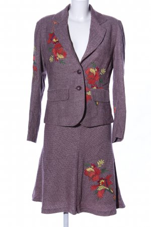 Brigitte von Boch Kostüm lila Blumenmuster Business-Look