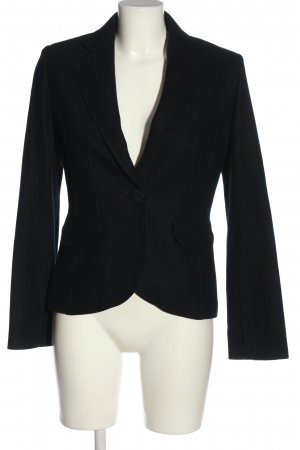 Brigitte von Boch Korte blazer zwart casual uitstraling