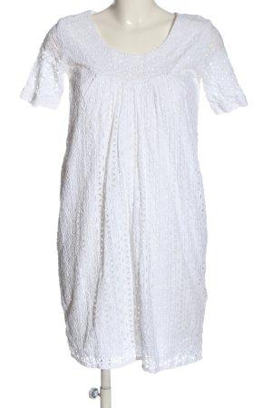 Brigitte von Boch Jurk met korte mouwen wit casual uitstraling