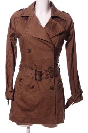 Brigitte von Boch Krótki płaszcz brązowy W stylu casual