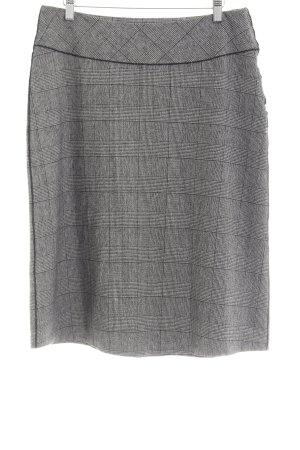 Brigitte von Boch Gebreide rok grijs-zwart geruite print zakelijke stijl