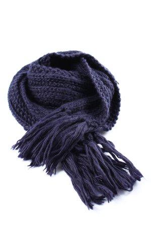 Brigitte von Boch Gebreide sjaal blauw kabel steek casual uitstraling