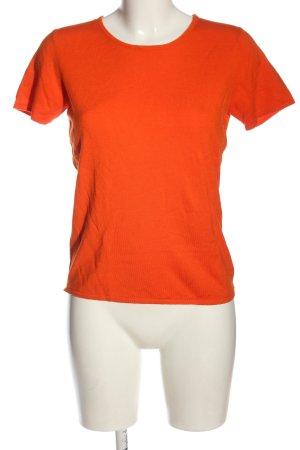 Brigitte von Boch Camisa tejida naranja claro look casual