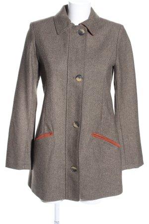 Brigitte von Boch Wollen blazer bruin gestippeld casual uitstraling