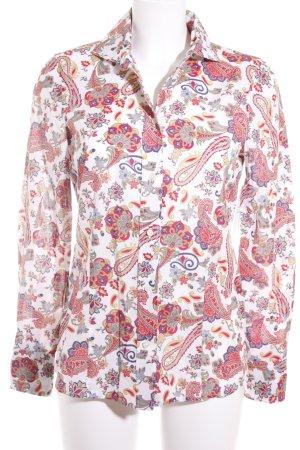 Brigitte von Schönfels Langarm-Bluse abstraktes Muster extravaganter Stil