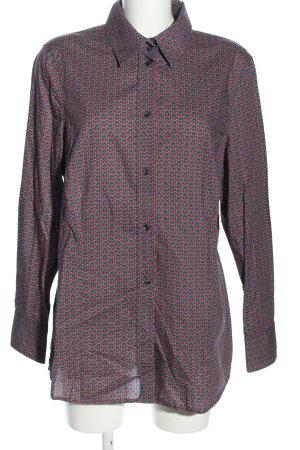 Brigitte von Schönfels Long Sleeve Shirt red-green allover print business style