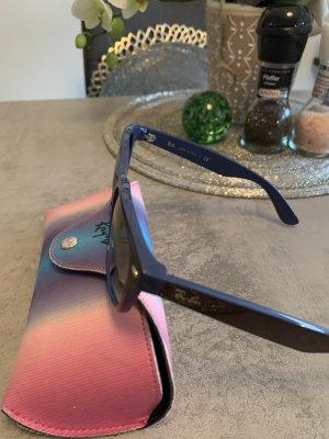 Ray Ban Lunettes de soleil ovales brun foncé-bleu foncé