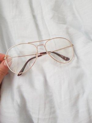 Glasses gold-colored
