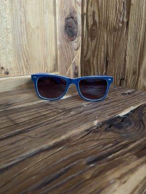Brille blau weiß