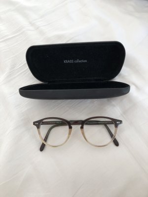 KRASS Glasses white-dark brown