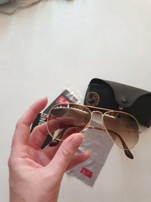 Brille Ray Ban gold mit braunen Gläsern