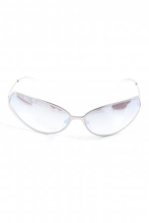 Glasses silver-colored-sage green street-fashion look