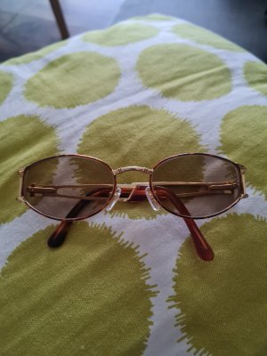 Police Glasses gold-colored-brown